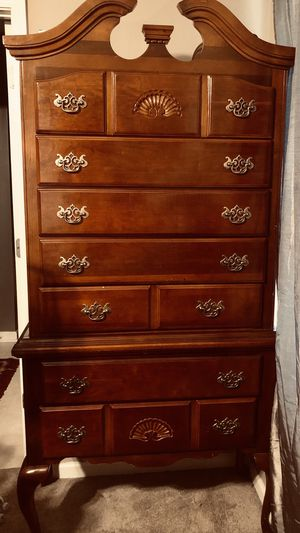 Solid wood Highboy dresser for Sale in Murfreesboro, TN