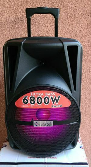 """New 12"""" subwoofer 6,800 watts xtra bass bluetooth, rechargeable, usb ,sd tf,fm,remote control, microphone for Sale in Riverside, CA"""