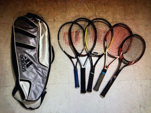 Assortment of tennis rackets and bag for Sale in College Park, MD