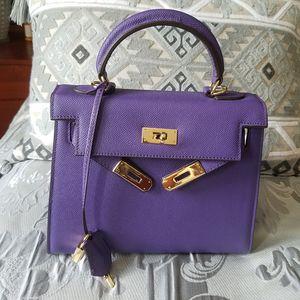 Hermes Kelly Epi 28cm Purple bag gold hardware for Sale in Framingham, MA