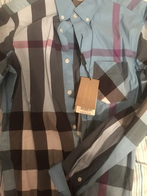 REAL BURBERRY SHIRT WITH TAG for Sale in Orlando, FL