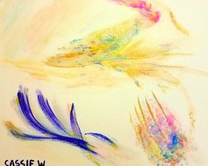 """Reaching"" 8x10 Gouache Canvas Panel for Sale in Charlottesville, VA"
