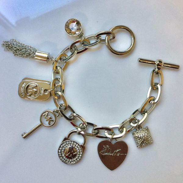 "Mk Michael kors charms bracelet jewelry accessory size 7.5"" jewelry accessory"