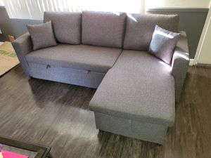 Tax Season Special!! Sofa Chaise W/ Pull Out Bed & Storage $389 FREE LOCAL DELIVERY & SET UP for Sale in San Bernardino, CA