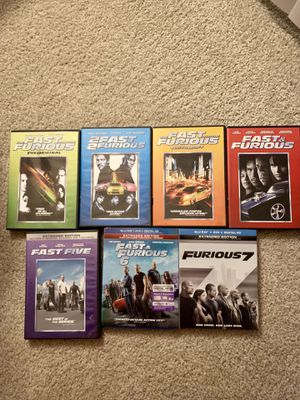 Fast and Furious 1-7 Movie Bundle for Sale in Ashburn, VA