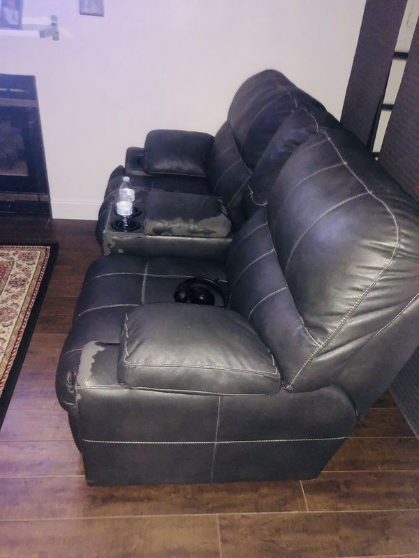 Recliner leather sofas