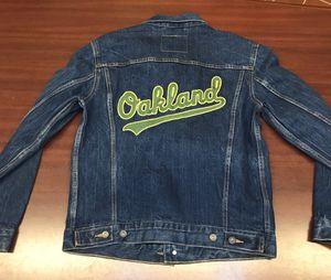 MLB Oakland Athletics Levi's Jean Jacket a's Logo Medium women's for Sale in Hayward, CA