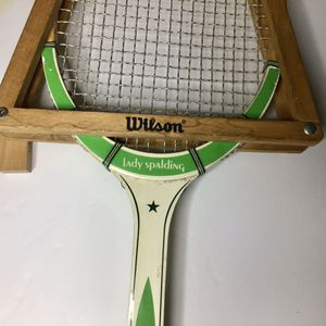 Lady Spalding Woodstar Tennis Racket & Press Frame for Sale in Fresno, CA