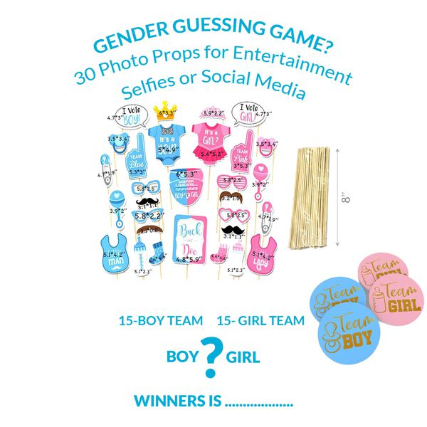 Gender Reveal Party Supplies Kit
