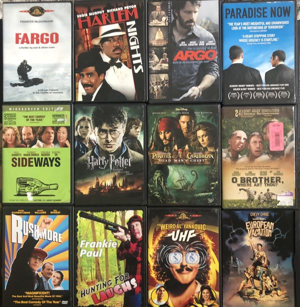 OVER 130 DVD MOVIES