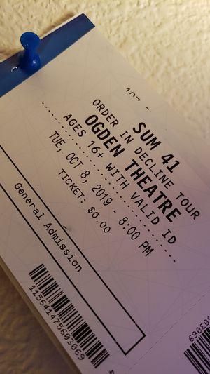 Sum 41 tickets for Sale in Colorado Springs, CO