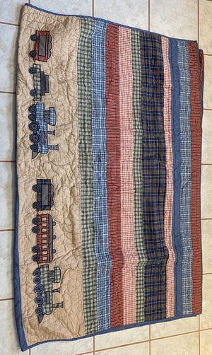 Children's Train Theme quilt,shams,valances,and room accessories for Sale in Hinesburg, VT
