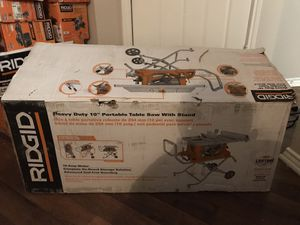 "Heavy duty 10"" portable table saw with stand for Sale in Grapevine, TX"