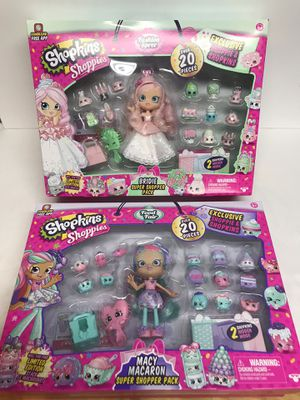 Shopkins Shoppies- *NEW*- Bridie & Macy Macaron- Exclusive- Over 20 pieces! for Sale in North Jackson, OH