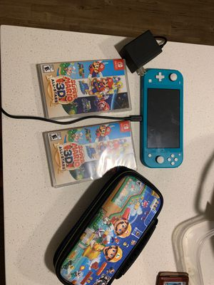 Nintendo switch lite plus carrying and super Mario 3D all stars for Sale in Newcastle, WA
