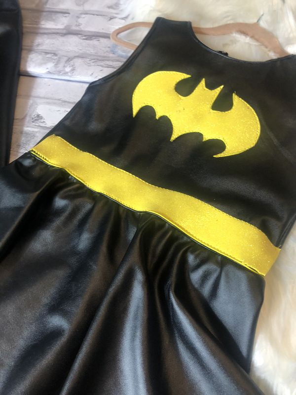 faux leather bat girl costume