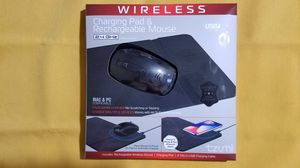 Wireless Charging Pad and Rechargeable Wireless Mouse Qi-Enabled w/ built in phone stand for Sale in Houston, TX
