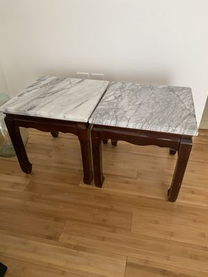 marble top end tables for Sale in Palm Desert, CA