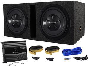 Kenwood P-W1220 full subwoofer package With Kenwood KAC-5206 for Sale in Detroit, MI