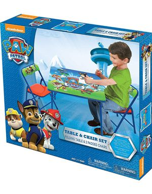 Paw Patrol Activity Table Sets – Folding Childrens Table & Chair Set – Includes 2 Kid Chairs for Sale in Portland, OR