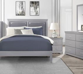 Queen Bed Frame Dresser Mirror One Night Stand Price Firm for Sale in Pomona,  CA