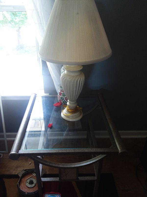 Lamps and table