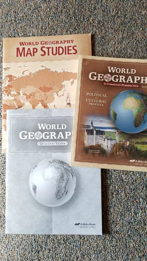 Abeka Geography curriculum for Sale for sale  Federal Way, WA