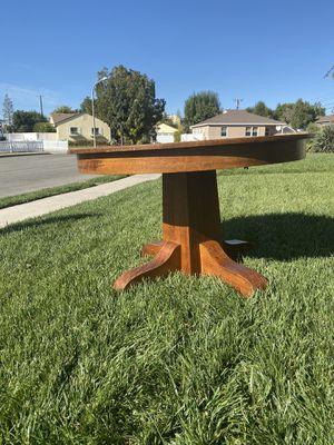 "Gustav Stickley inspired antique MISSION OAK 48"" round table for Sale in Fullerton, CA"