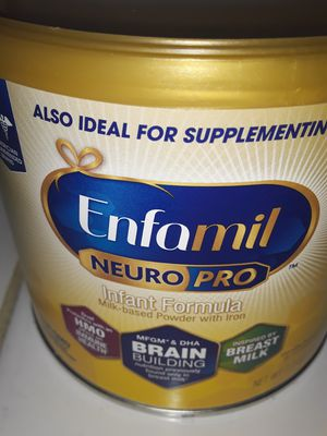 Enfamil neuro pro infant yellow formula cases, 6 of the 7.2oz cans in each case for $30 for Sale in Escondido, CA