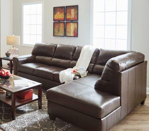 Brand new Genuine leather sectional in brown. Financing available with only $39 down and take it home for Sale in Norfolk, VA