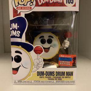 Dum-Dums Drum Man 2020 NYCC Exclusive Funko POP for Sale in Riverside, CA
