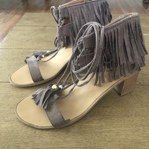 Qupid Tie Up Tassel Fringe Sandals for Sale in Greenville, SC