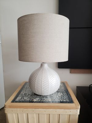 Ceramic desk lamp with linen shade for Sale in Berkeley, CA