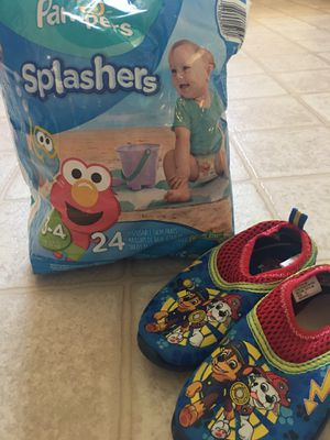 PAMPERS SPLASHERS AND SWIM SHOES for Sale in Las Vegas, NV