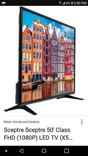 Scepture 50 inch tv brand new still in the orignal package for Sale in Washington, DC