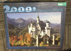 2000 piece puzzle of Neuschwanstein Castle, Bavaria for Sale in Salt Lake City, UT