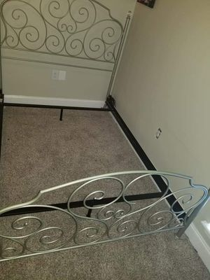 Full size bed frame 2 yrs old 8 months in storage. Like new must pick up 125 obo for Sale in Gonzales, LA