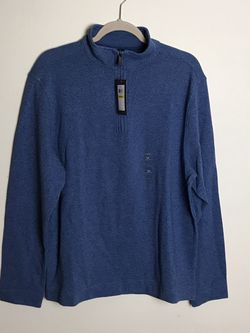 Van Heusen Never Tuck 1/4 Zip Mens M (M) - Blue New With Tags MSRP $65 for Sale in Rock Cave,  WV