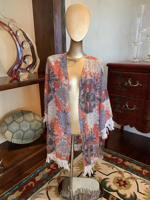 Bohemian cardigan with fringe coverup for Sale in Seattle, WA