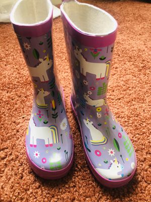 Medium size Youth Girl Rain Boots (size 11-12) for Sale in Oceanside, CA