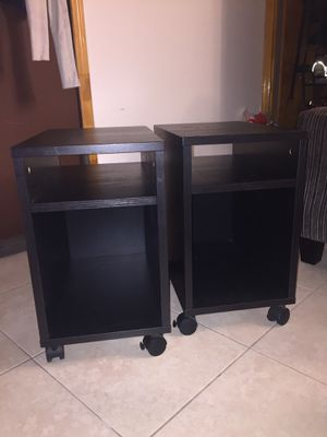2 end tables with wheels for Sale in New York, NY