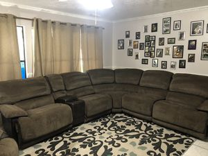 Sectional + recliner / 2 years old! for Sale in Spring, TX