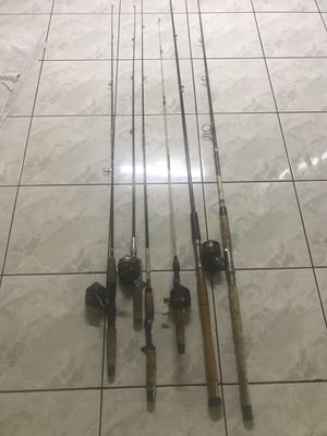 5 fishing rods for $20 take them all for Sale in Westminster, CA