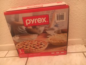 Pyrex Pie Glass Plates (Set of 3) for Sale in Rosemead, CA