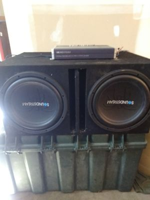 Soundstream subwoofers with matching amp for Sale in Everett, WA