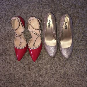 Red And Gold High Heels for Sale in Capitol Heights, MD