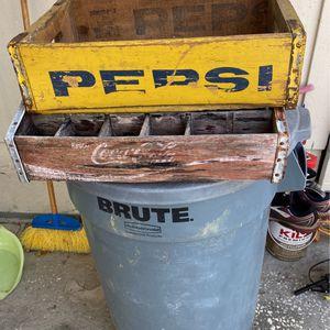 Antique PEPSI & COCA-COLA WOOD CRATES for Sale in Orlando, FL