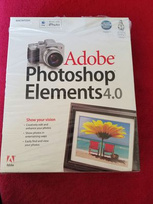 Adobe Photoshop Elements 4.0 for Mac for Sale in San Francisco, CA