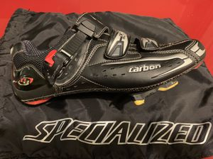 Specialized Pro Carbon Road bike shoes and Shimano PD-R600 pedals for Sale in Seattle, WA