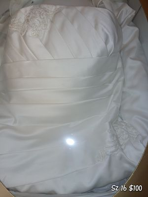 Size 16 off white strapless wedding dress for Sale in Chapel Hill, TN